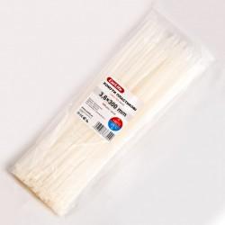 Хомут пластиковый 3,6 x 300 - белый - 100 шт.