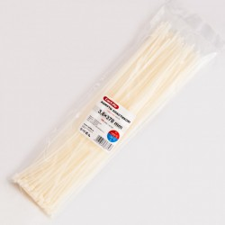 Хомут пластиковый 3,6 x 370 - белый - 100 шт.