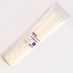 Хомут пластиковый 4,8 x 380 - белый - 100 шт.