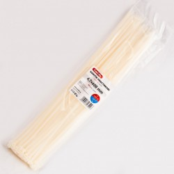 Хомут пластиковый 4,8 x 400 - белый - 100 шт.
