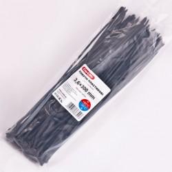 Хомут пластиковый 3,6 x 300 - черний - 100 шт.
