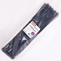 Хомут пластиковый 3,6 x 370 - черний - 100 шт.