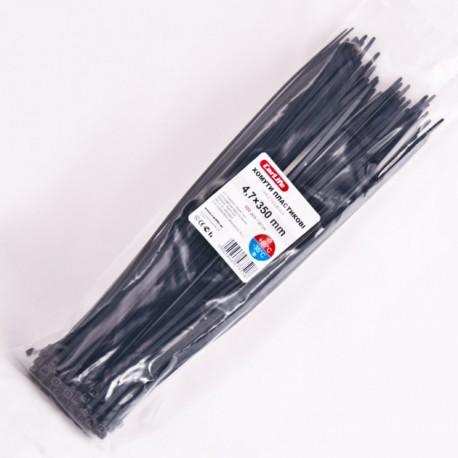 Хомут пластиковый 4,8 x 350 - белый - 100 шт.