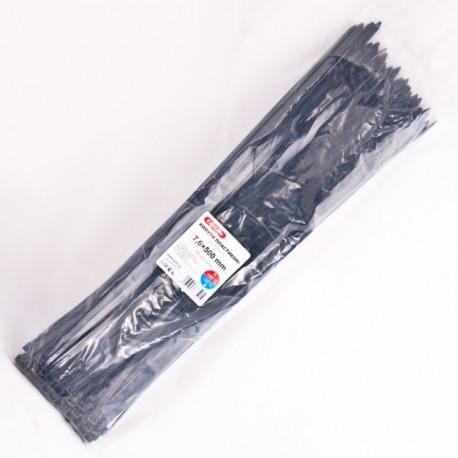 Хомут пластиковый 7,6 x 500 - белый - 100 шт.