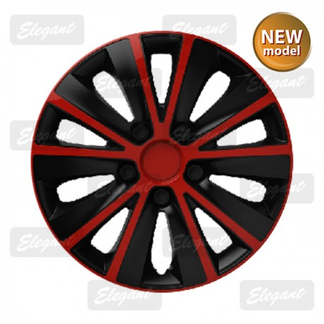 Колпак ELEGANT 13 RAPID red&black (4 шт.)