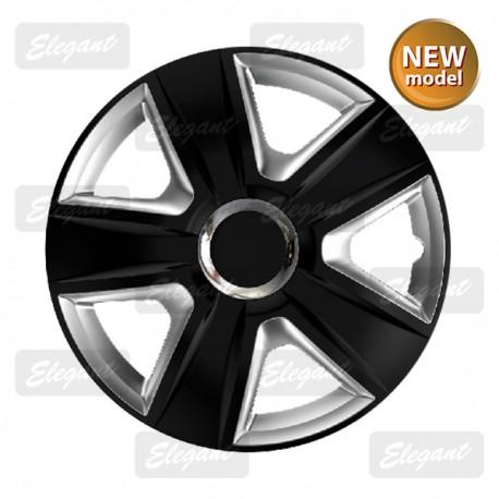 Колпак ELEGANT 14 ESPRIT RC black&silver (4 шт.)