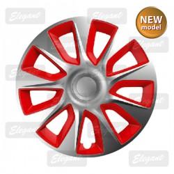 Колпак ELEGANT 14 STRATOS silver&red (4 шт.)