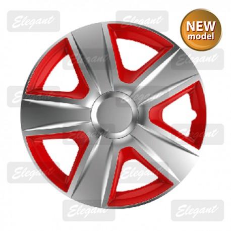 Колпак ELEGANT 15 ESPRIT silver&red (4 шт.)